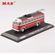 barnleksaker för Collectible Tram 1/72 Scale Diecast Modell 1:72 Scale Diecast Red Csepel D-710 1959 Bussbilmodell Toy Gift