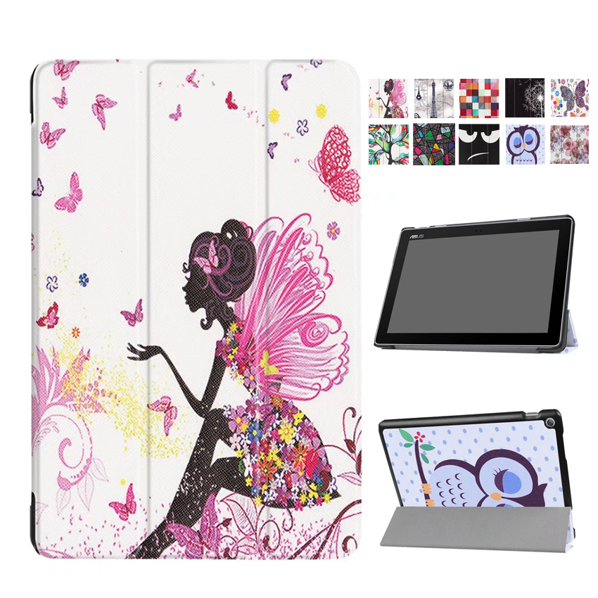 For Asus zenpad 10 Z301MFL Z301ML Tablet Cover Case PU Leather Print Fundas 10.1'' Zenpad 10 Z300C/M/CL Smart Protective Stand asus zenpad 3s 10 z500m tablet pc