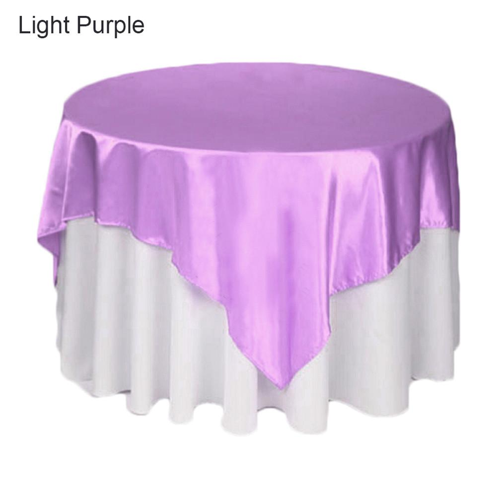 145cm * 145cm Specific Multi-color High-end Square Satin Table Cloths For Hotel Restaurant For Banquet Wedding Party Festivals