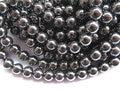 Alta qualidade 5 vertentes 2-10mm natural Hematita gem rodada bola de prata bronze ouro mista talão solto