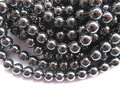 high quality 5strands 2-10mm natural Hematite gem round ball silver gold gunmetal mixed loose bead