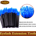 Most Species 50pcs Disposable one-off Mascara bended Brush 4 colors choose Makeup Brush Eyelash Extension Applicate Brush