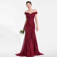 Tanpell кружевное нарядное платье красно бурый с открытыми плечами длина до пола русалка платье Леди Свадебная вечеринка пользовательские нар