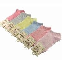 Lucidity Summer Socks For Girls Candy Colors Comfortable Women Boat Socks Comfortable Breathable Ladies Short Socks
