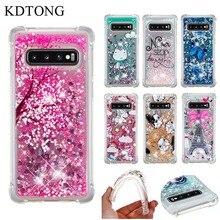 KDTONG Glitter Liquid Case sFor Samsung Galaxy S10 S10E Soft Silicone TPU Cover For Plus S 10 Capa
