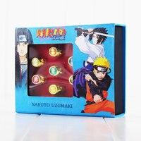 10pcs Set Naruto Cosplay Akatsuki Members Finger Rings PVC Rings Ornaments Toys
