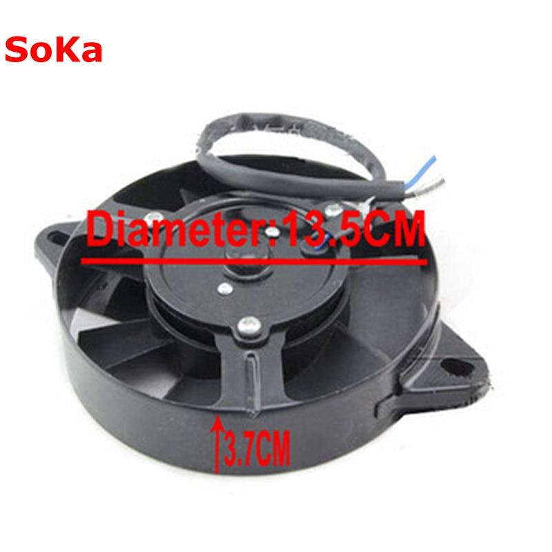 12V 30W Motorcycle Cooling Fan For YAMAHA ATV 4WD Dirt Bike delta 12038 12v cooling fan afb1212ehe afb1212he afb1212hhe afb1212le afb1212she afb1212vhe afb1212me