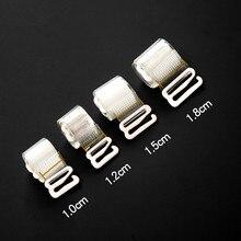 6 pcstransparent невидимые ремни регулируемые коврик, близко расположены чашечки, ремни 1,0 см 1,2 см 1,5 см 1,8 см эластичные прозрачные силиконовые лямки бюстгальтера