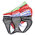 4PCS Mens Erotic Stripe Jockstrap Thongs G Strings Sexy Mens Underwear Gay Fashion Design Penis Pouch M L XL 4 Colors Wholesale