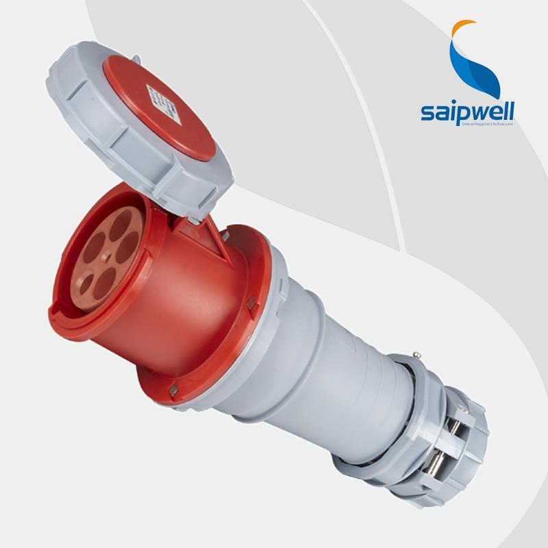 Wholesale Saipwell 32A 400V 5P (3P+N+E) iec 60309-2 industrial socket Heavy duty IP67 waterproof industrial socket SP1454Wholesale Saipwell 32A 400V 5P (3P+N+E) iec 60309-2 industrial socket Heavy duty IP67 waterproof industrial socket SP1454