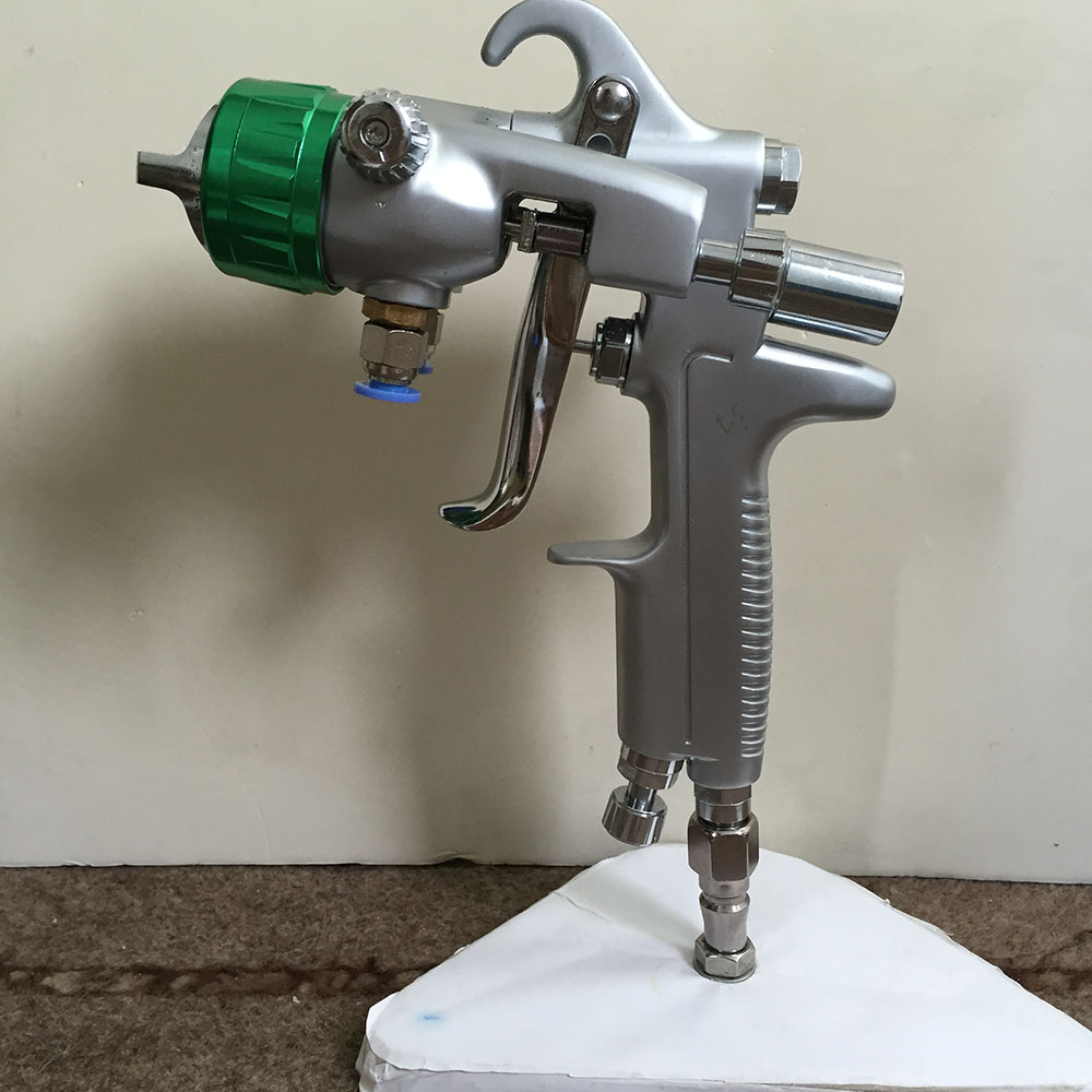 SAT1189 pressure paint gun double nozzle automatic airbrush pneumatic paint spray gun for car professional chrome paint sprayer стоимость