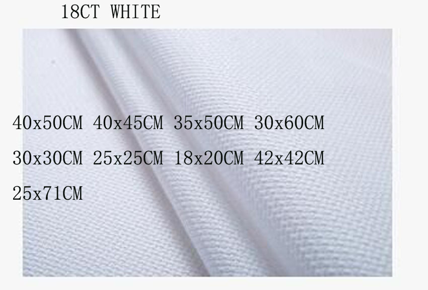 Best Price Njcs Aida 18ct White Cross Stitch Fabric Canvas Over Sew