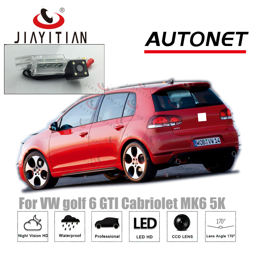 JiaYiTian Rear View Camera  For VW Golf 6 GOFL GTI Cabriolet MK6 5K CCD Night Vision Reverse Backup  Camera License Plate Camera
