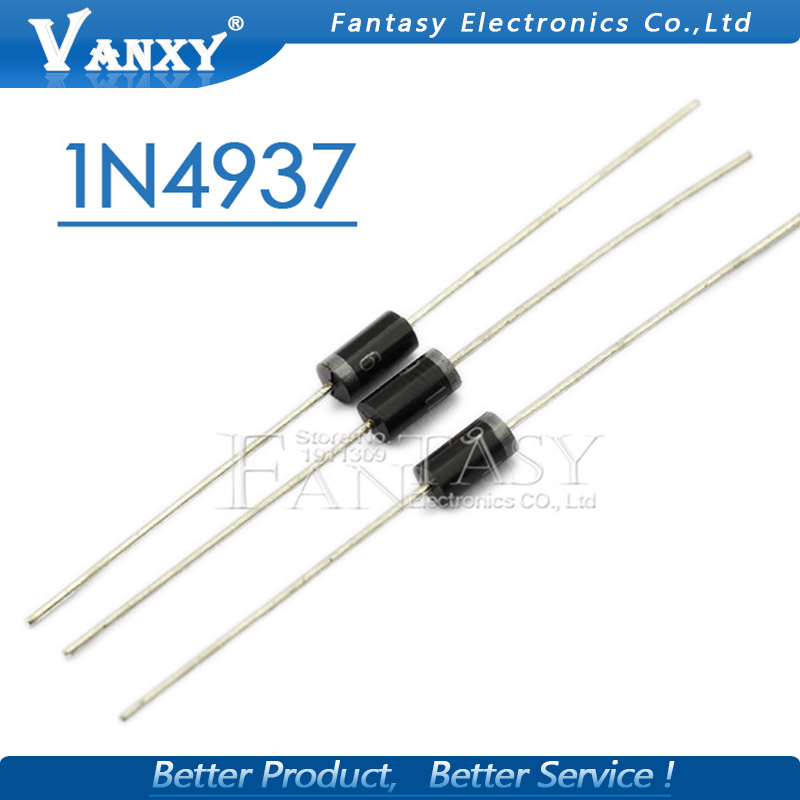 50pcs)UF4007 1A//1000V Ultra-fast recovery rectifier diode DO-41 Electronic