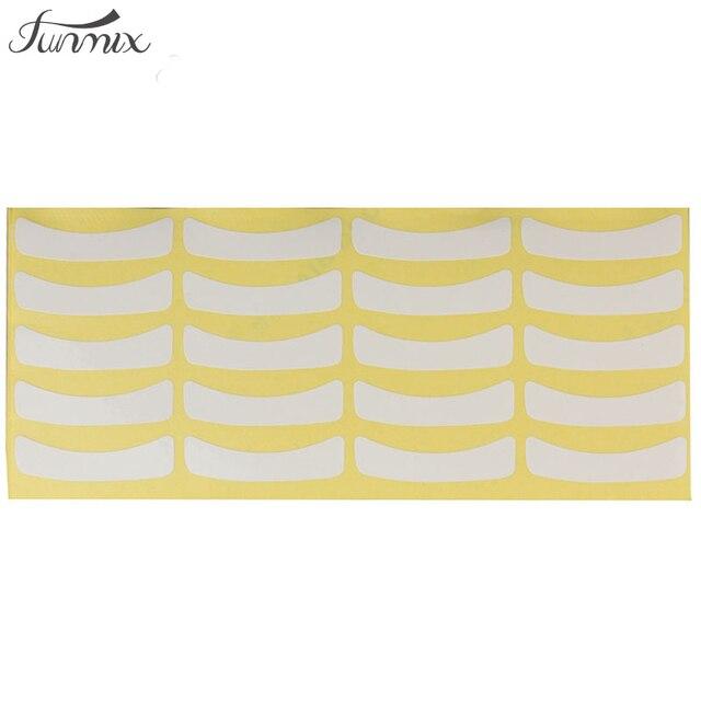 Marca funmix 100 pares bajo ojo pads Adhesivos Parches para colores visón falso extensiones de pestañas cosmética herramienta
