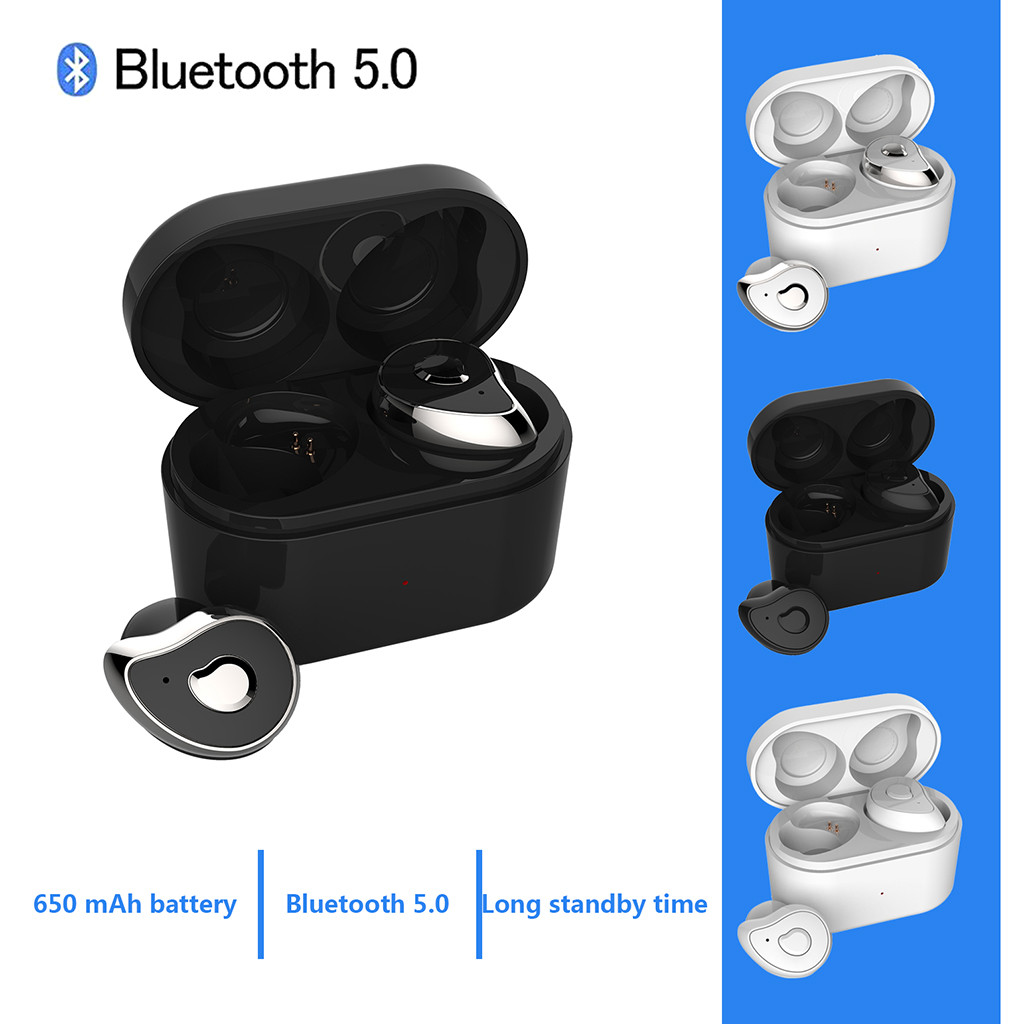 Mini Binaural Ultra Small Wireless Bluetooth 5.0 Sports Waterproof Bass Headphones Stereo Car Call Noise Reduction Bluetooth new