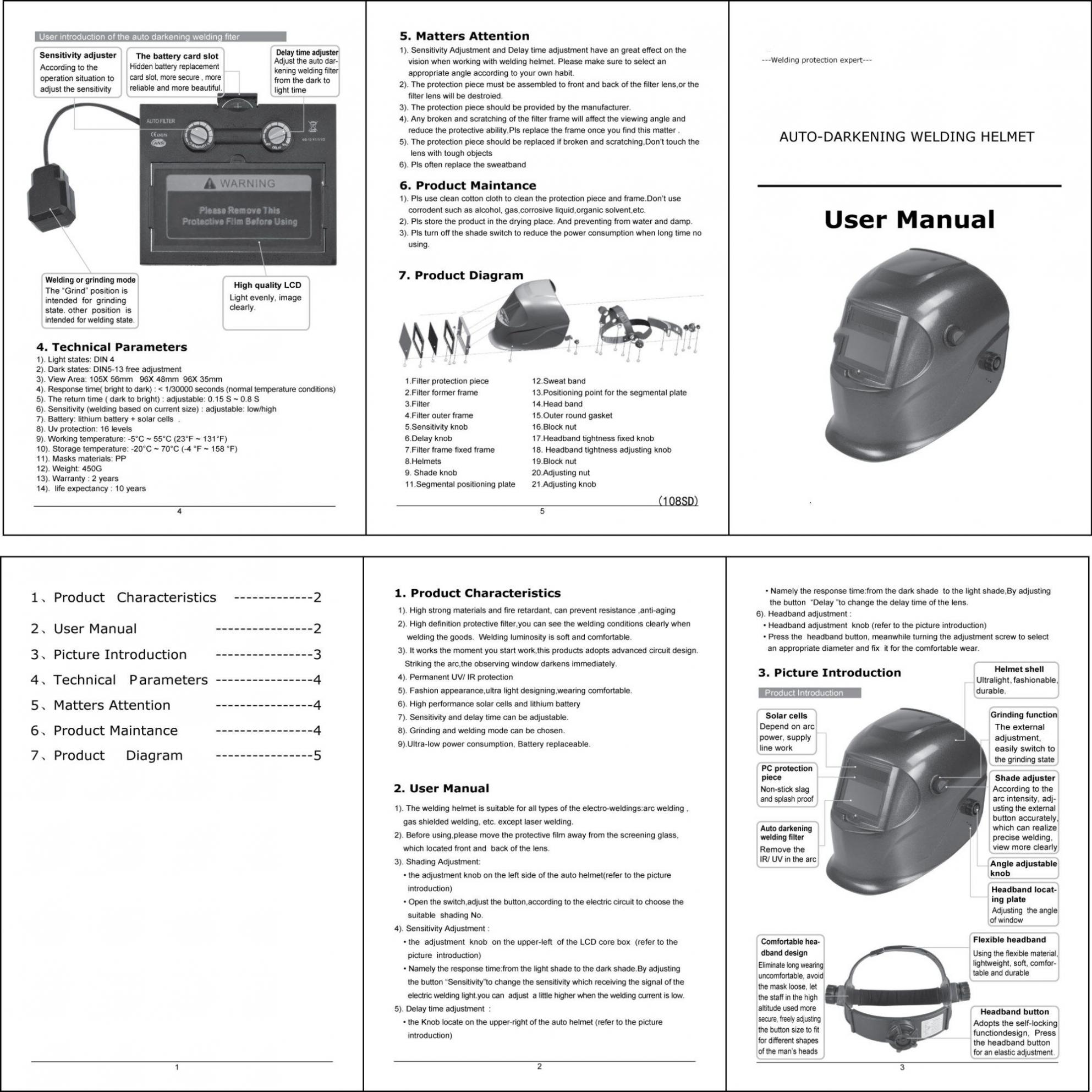 Welding Helmet Diagram Wiring Library 10324 Description 9 L3
