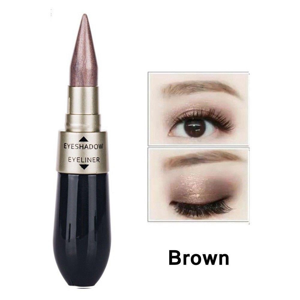 Новинка 2 в 1 тени для век подводка для глаз ручка черная жидкая подводка для глаз Карандаш блеск Тени для век двухсторонний инструмент для макияжа для глаз - Цвет: 05