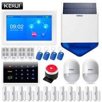 KERUI K7 дома WI-FI сигнализации костюм 7 дюйма TFT Цвет Дисплей GSM безопасности Smart Жилых Alarmas де Seguridad para Casa