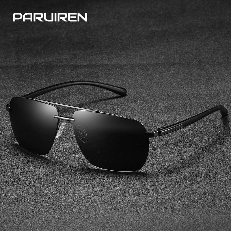 65696905e3 Comprar De Lujo gafas de sol para hombres, gafas Vintage de Aviador Retro  diseñador de la marca cuadrado sin montura gafas de sol negro gafas de  Hombre ...