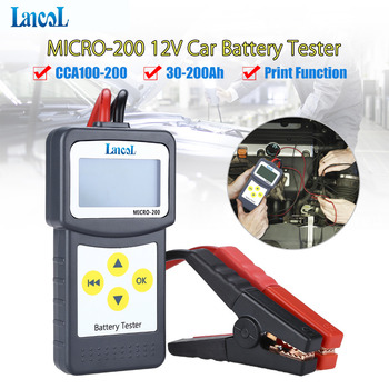 Professional diagnostic tool Lancol Micro 200 Car Battery Tester Vehicle Analyzer 12v cca battery system tester USB for Printing duoyi dy219 12v car battery tester digital automotive ah cca voltage battery load analyzer multifunction diagnostic tool mini