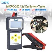 Профессиональный инструмент диагностики Lancol Micro 200 автомобилей Батарея тестер анализатор для автомобиля 12 v cca тестер системных батарей USB для печати