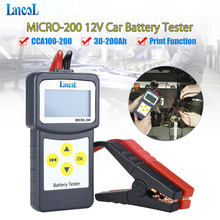 Profesyonel teşhis aracı Lancol mikro 200 araba pil test cihazı araç analizörü 12v cca akü sistemi test cihazı USB baskı