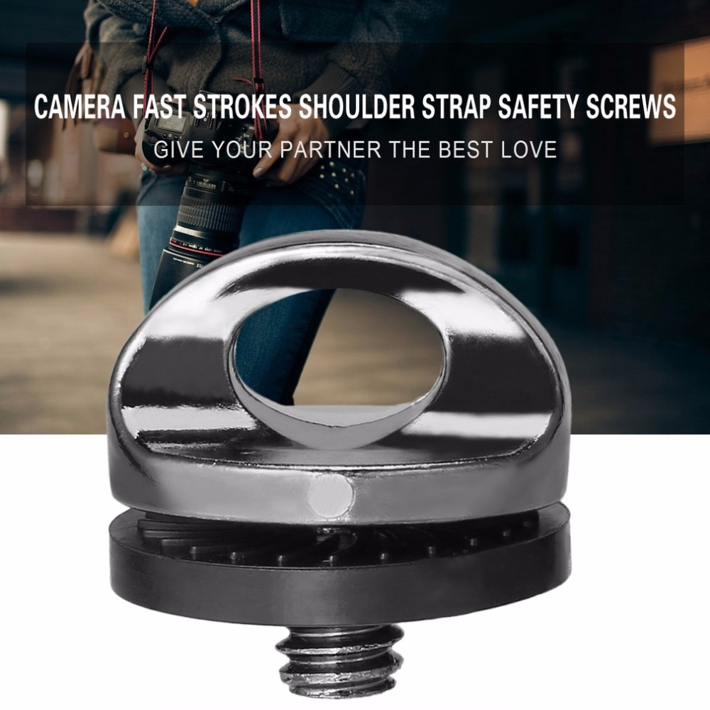 "New 1//4/"" Screw For DSLR SLR Camera Strap Tripod Quick Release Plate Mount PN"