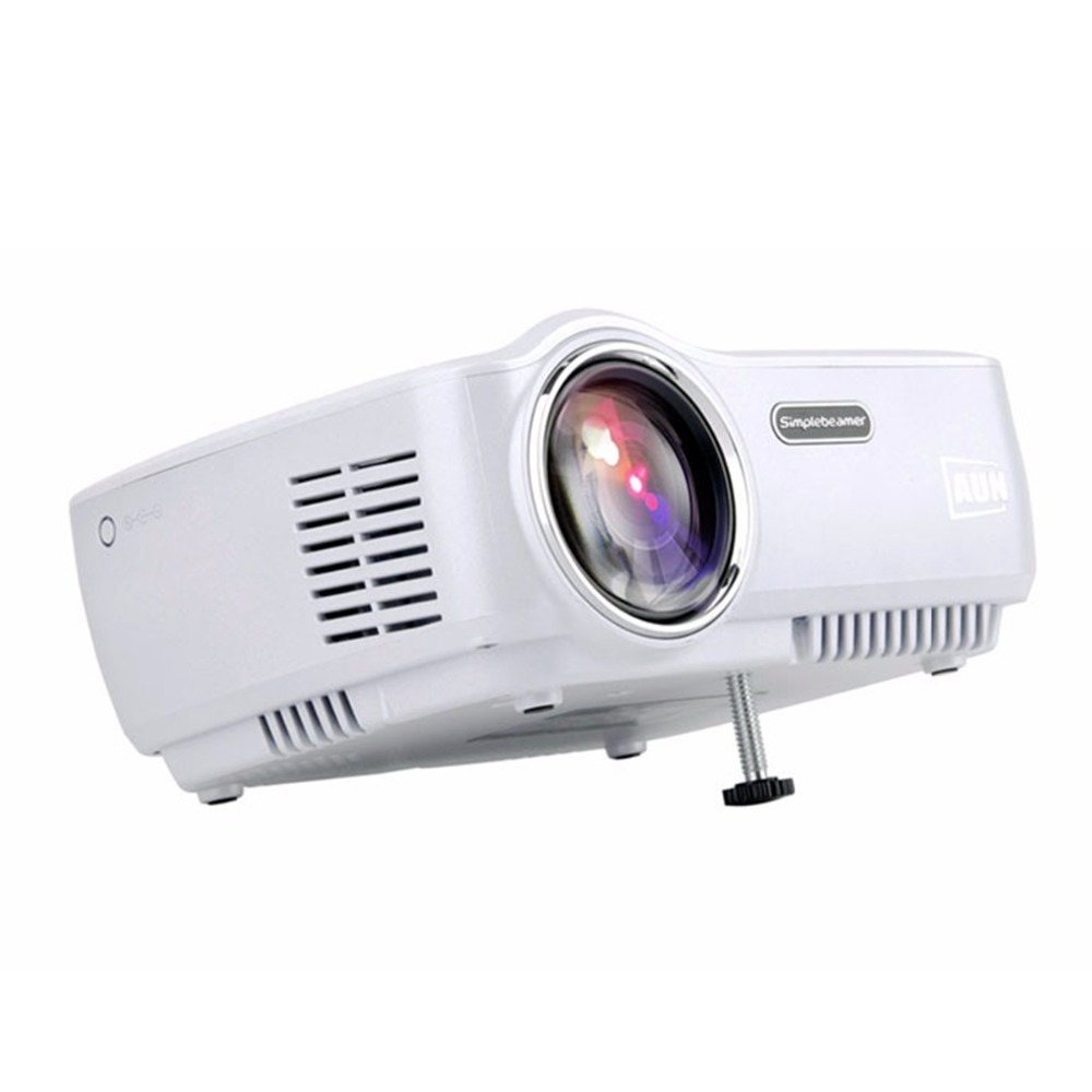 AUN WIFI Bluetooth Projector AM01S 1400 Lumens LED Projector Set in Android 4.4 Support to Miracast Airplay AC3 MINI Beamer otha portable mini projector smart dlp wifi bluetooth support miracast airplay ac3 mini beamer proyetor set in android 4 4