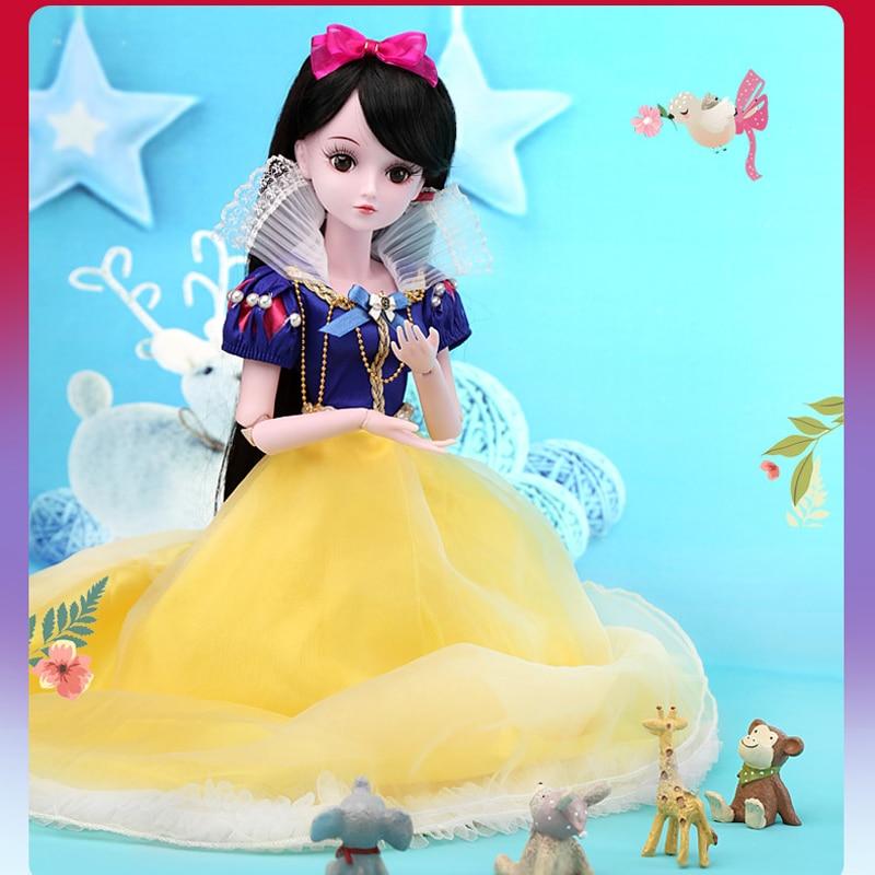 60CM SNOW WHITE Doll 1/3 Bjd Dolls Full Set 19 Jointed 3D Eyes Princess Toy Doll Toys for Children Girls Birthday Gifts