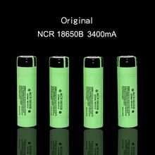 4 pcs / PCS 2017 new original 18650 3400 MAH battery 3.7 V Li ion rechargebale ncr18650b battery + free shopping