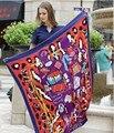2017 mulheres de luxo da marca lenço de seda da cópia do leopardo saco de sarja de seda pashmina xale 130*130 cm as pessoas letra grande lenço quadrado