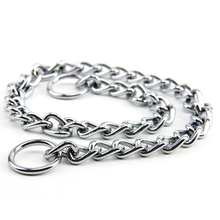2 pcs Various specifications XS S M L Octagon twist chains Single row Stainless steel Pets necklace Collars Slip Chains Supplies
