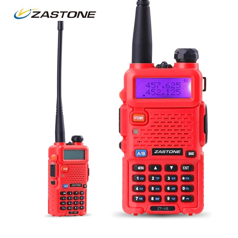 imágenes para Zastone ZT-V8 VHF de Banda Dual/UHF de Mano de Dos Vías de Radio CB Walkie Talkies Recargable Auricular de Radio de Jamón Portátil walky talky