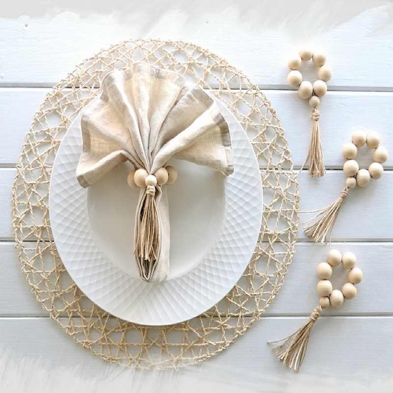 Прочный Одежда для свадьбы, дня рождения декор стола кольца многоразовые деревянные кольца для салфеток Кухня бар банкет Ужин Салфетка аксессуары