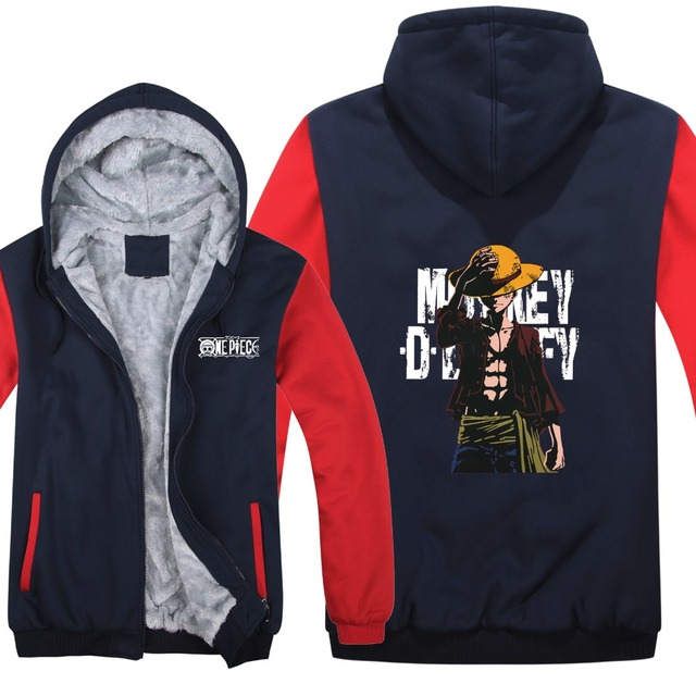 One Piece Hoodies Winter Jacket