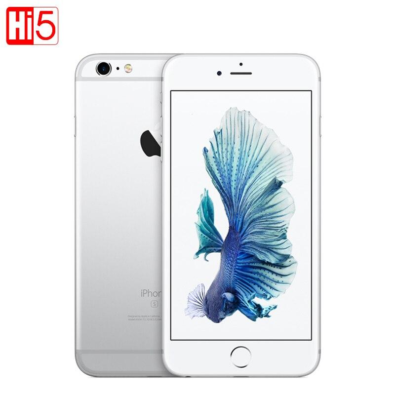 Разблокированный Apple IPhone 6S Plus 16 г/64 г/128G ROM 5,5 12.0MP Камера видео 4k iOS LTE мобильный телефон Dual core GPRS отпечатков пальцев