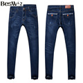 Beswlz Men Pencil Jeans Pants Casual Fashion Straight Denim Jeans Men Slim Famous Brand Male Blue Jeans 3001