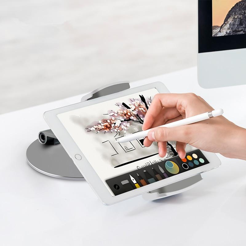 "Soporte Universal para tableta de Smartphone soporte de escritorio de aluminio rotación Base para teléfono de 3,5 6,5 pulgadas para iPad Pro Air mini 7 14""-in Soportes de tableta from Ordenadores y oficina on AliExpress - 11.11_Double 11_Singles' Day 1"