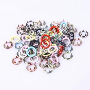 Image 4 - 110 szt. 9.5mm kolorowy okrągły metalowy guzik z zapięciem narzędzie instalacyjne dla dzieci i ubrania dla dorosłych
