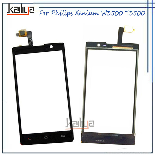 For Philips Xenium W3500 T3500 Touch Screen Digitizer Assembly Replacement Black 5.0 inch For Philips Xenium W3500 Mobile Phone