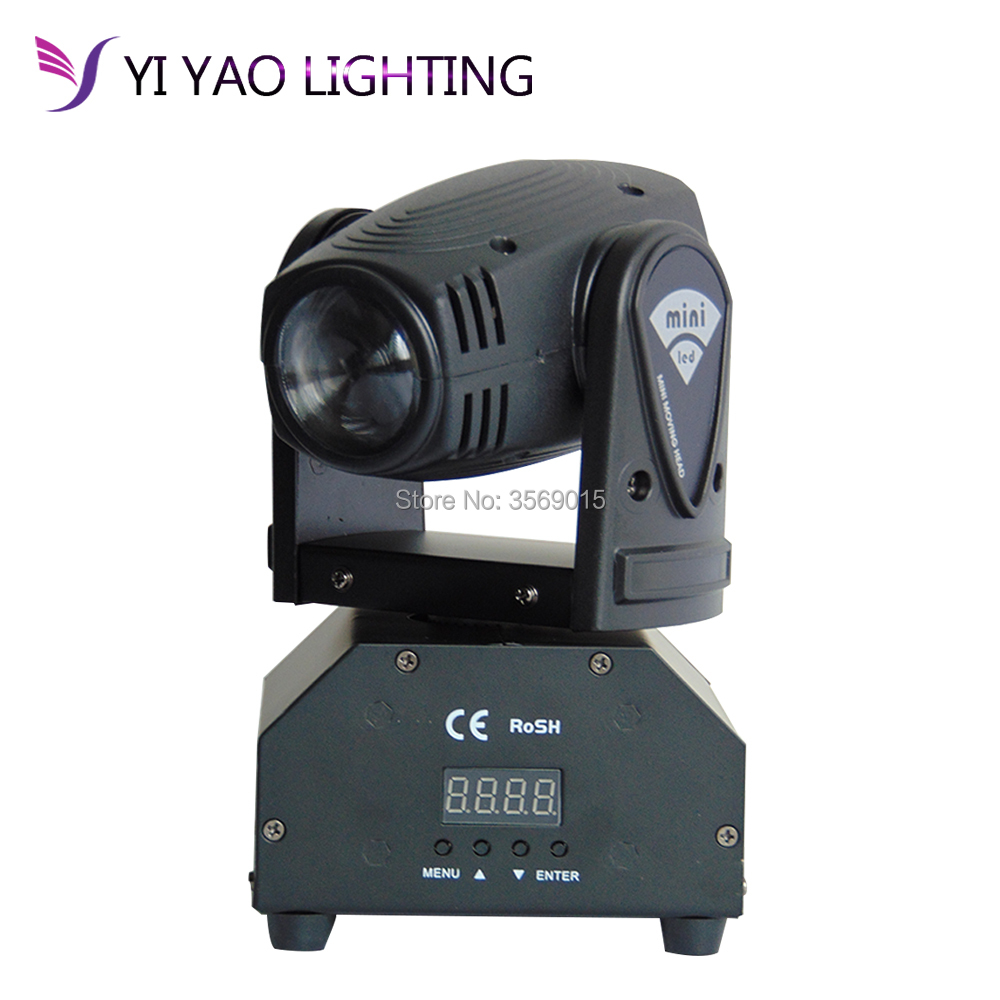 10W Mini Moving Head Beam 4in1 RGBW LED DMX512 11/13 CH Disco Stage Lighting For DJ