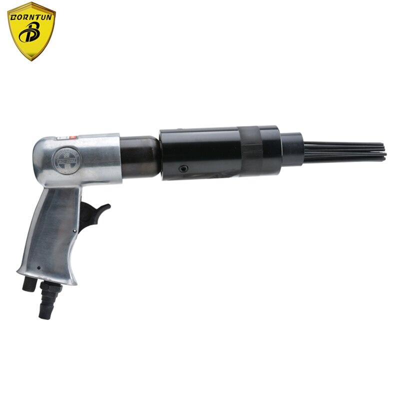 Borntun Pneumatic Air Needle Scalers Gun 19pcs 3mm*180mm Needles Removing Metal Rust  Burrs Welds Air Rust Remover Opening Holes