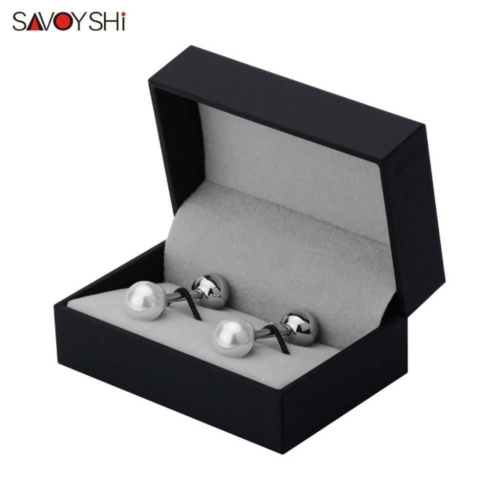 SAVOYSHI Luxury Pearls Cufflinks for Mens