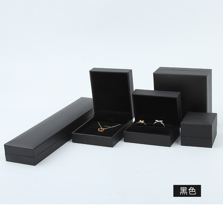 MQUPIN Black Engagement Velvet Ring Box Jewelry Display Storage Foldable Case For Wedding Ring Valentine's Day Gift Organize
