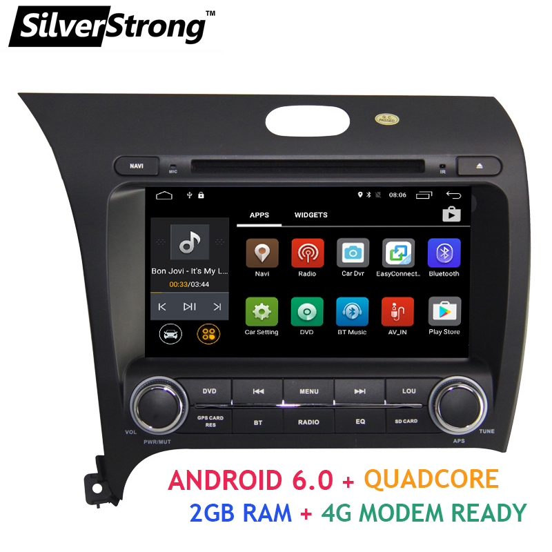 imágenes para Android6.0 2din 8 pulgadas de Coches Reproductor de DVD Para Kia CERATO FORTE 2013 K3 Dejó Conducir con 4G módem de Radio GPS WIFI