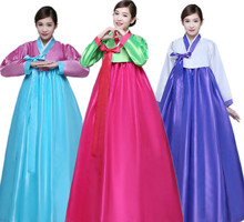 New Design Women Elegant Korean Hanbok Traditional Costume Minority Dance Performance Clothing Female Hanbok Court Pincess Dress