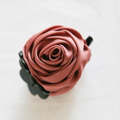 Розовые цветы черные пластиковые зубы заколки для волос изысканный элегантный головной убор для женщин девушек аксессуары для волос - Цвет: 9102