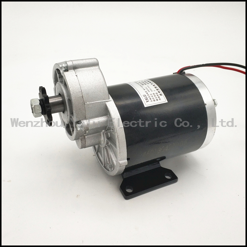 MY1020Z 24V 450W DC Brushed Motor Kit With 24V 500W Brush Controller 420 38T Tooth 77Link Chain Electric Tricycle DIY Motor Kit цена