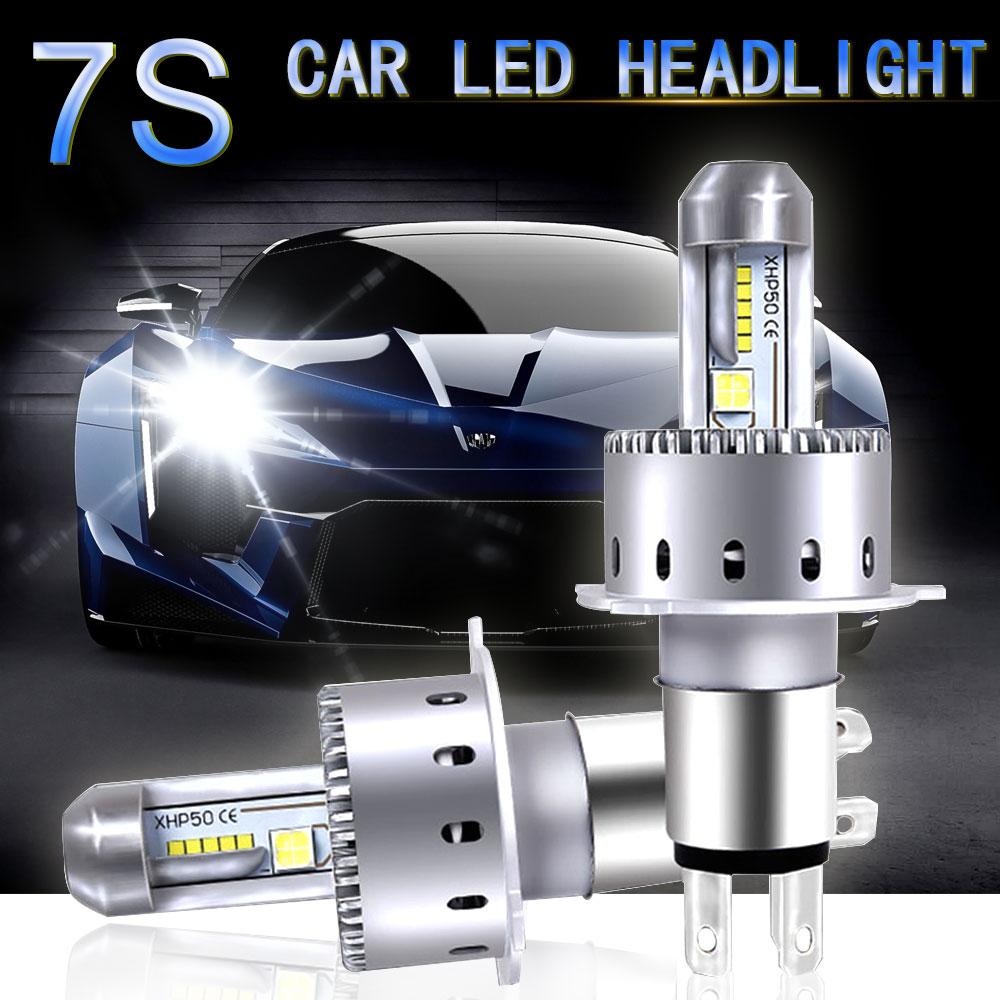 Led Lights For Cars >> Us 40 49 55 Off Cooleeon 9006 9005 Lamp Led Lights For Cars H11 H1 H4 H7 Auto Led Headlight Bulbs 12v 24v Automotive Headlamp Cree Led Chips In Car